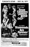 "AD FOR ""DIAMONDS ARE FOREVER"" ODEON HAMILTON AND OTHER THEATRES"
