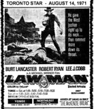 "AD FOR ""LAWMAN"" YONGE AND NORTHEAST DRIVE-IN THEATRES"