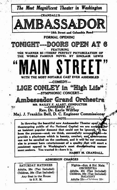 September 20th, 1923 grand opening ad