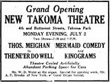 July 1st, 1923 grand opening ad