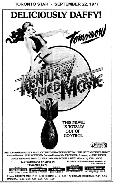 "AD FOR ""KENTUCKY FRIED MOVIE - SKYLINE AND OTHER THEATRES"