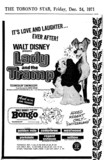 "AD FOR ""LADY AND THE TRAMP"" - CEDARBRAE AND OTHER THEATRES"