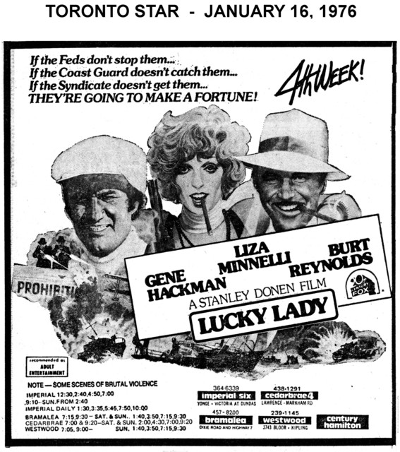 "AD FOR ""LUCKY LADY"" IMPERIAL SIX AND OTHER THEATRES"