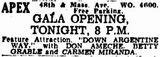 November 20th, 1940 grand opening ad