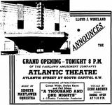 November 5th, 1945 grand opening ad