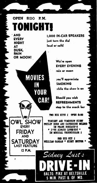 Grand opening ad from July 10th, 1947
