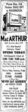 Christmas day grand opening ad from 1946