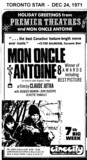 """AD FOR """"MON ONCLE ANTOINE"""" - CINECITY"""