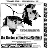 "AD FOR ""THE GARDEN OF THE FINZI-CONTINIS"" - NEW YORKER THEATRE"
