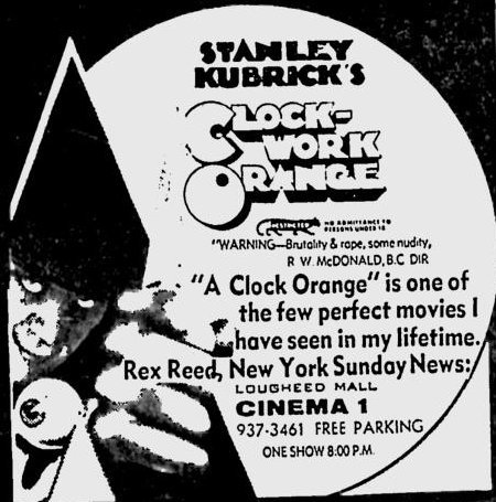 A Clockwork Orange (1971) ad