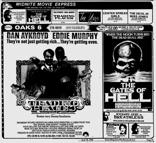 Oaks 6 Newspaper Ad June 1983