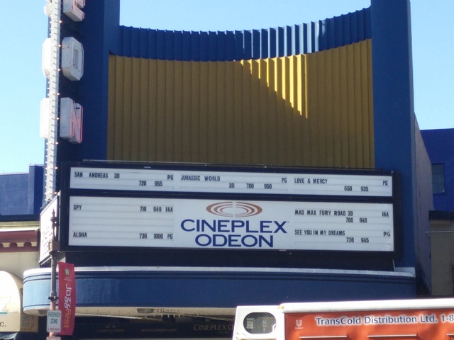Odeon Marquee close-up