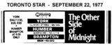 "AD FOR ""THE OTHER SIDE OF MIDNIGHT"" HUMBER AND OTHER THEATRES"