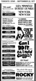 AD FOR UPTOWN 2,3 AND BACKSTAGE 1 & 2 & OTHER THEATRES