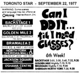 "AD FOR ""CAN I DO IT TIL I NEED GLASSES?"" - JACKSON SQUARE (HAMILTON) & OTHER THEATRES"