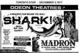 "AD FOR ""SHARK & MADRON"" PARKWAY DRIVE-IN AND DANFORTH THEATRE"