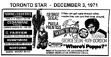 """AD FOR """"BORN TO WIN & WHERE'S POPPA"""" - TOWNE & COUNTRYE AND OTHER THEATRES"""