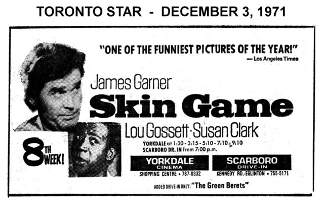 "AD FOR ""SKIN GAME"" YORKDALE THEATRE"