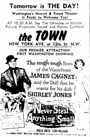 March 28th, 1959 grand opening ad as Town