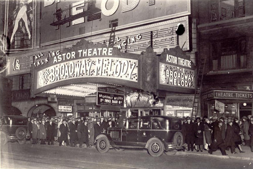 "Astor Theatre ""The Broadway Melody"" (1929) engagement"