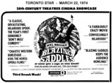 "AD FOR ""BLAZING SADDLES"" - UPTOWN 1 THEATRE"