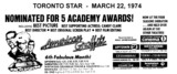 """AD FOR """"AMERICAN GRAFFITI"""" SQUARE ONE MISSISSAUGA AND OTHER THEATRES"""