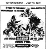 "AD FOR ""EL CONDOR"" - DOWNTOWN THEATRE"