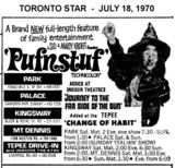 "AD FOR ""PUFNSTUF"" TEPEE DRIVE-IN AND OTHER THEATRES"