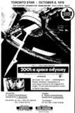 """AD FOR """"2001: A SPACE ODYSSEY - 70MM AND STEREOPHONIC SOUND"""" TORONTO DOMINION CINEMA & EGLINTON THEATRE"""