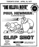 "AD FOR ""SLAP SHOT"" HYLAND THEATRE"