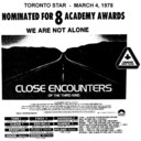 "AD FOR ""CLOSE ENCOUNTERS OF THE THIRD KIND"" ODEON (BURLINGTON) AND OTHER THEATRES"