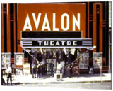Color/perspective corrected photo of Avalon marquee