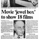 "AD FOR ""MOVIE 'JEWEL BOX' TO SHOW 18 FILMS - EATON'S CINEPLEX THEATRES"
