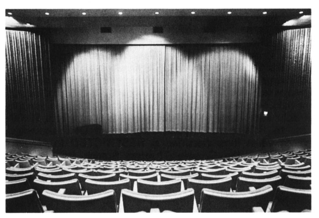 THEATRE SHOWING STAGE AND SCREEN FROM SCIENCE CENTRE PAMPHLET