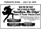 "AD FOR ""GOODBYE MR. CHIPS"" - THORNCLIFFE CINEMA AND OTHER THEATRES"