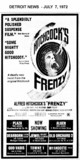 "AD FOR ""FRENZY"" - WYANDOTTE MAIN AND OTHER THEATRES"