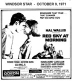 "AD FOR ""RED SKY AT MORNING"" - THE ODEON THEATRE (HOLIDAY INN)"