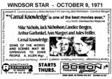 "AD FOR ""CARNAL KNOWLEDGE"" - THE ODEON WINDSOR"