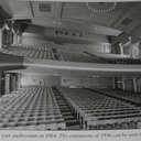 Black & White auditorium shot taken from stage on day after closure