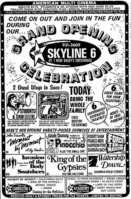 December 22nd, 1978 grand opening ad