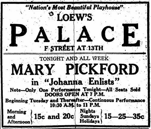 November 4th, 1918 grand opening ad