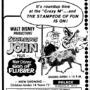 "AD FOR ""SCANDALOUS JOHN & SON OF FLUBBER"" - PALACE THEATRE"