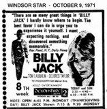 "AD FOR ""BILLY JACK"" - DEVONSHIRE 2 THEATRE"