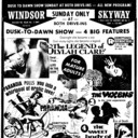 "AD FOR ""SUNDAY MIDNITE SHOW - 4 FEATURES - WINDSOR DRIVE IN THEATRE"