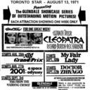 """AD FOR """"ENCORE PRESENTATIONS"""" - GLENDALE CINERAMA THEATRE"""