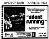 "AD FOR ""SILENT RUNNING"" - DEVONSHIRE 1 CINEMA"