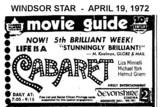 "AD FOR ""CABARET"" - DEVONSHIRE 2 CINEMA"