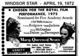 "AD FOR ""MARY QUEEN OF SCOTS"" - VANITY THEATRE"