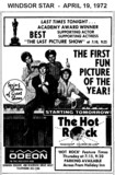 "AD FOR ""THE HOT ROCK"" ODEON (HOLIDAY INN) THEATRE"