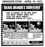 "AD FOR ""THE GODFATHER"" - PALACE THEATRE"